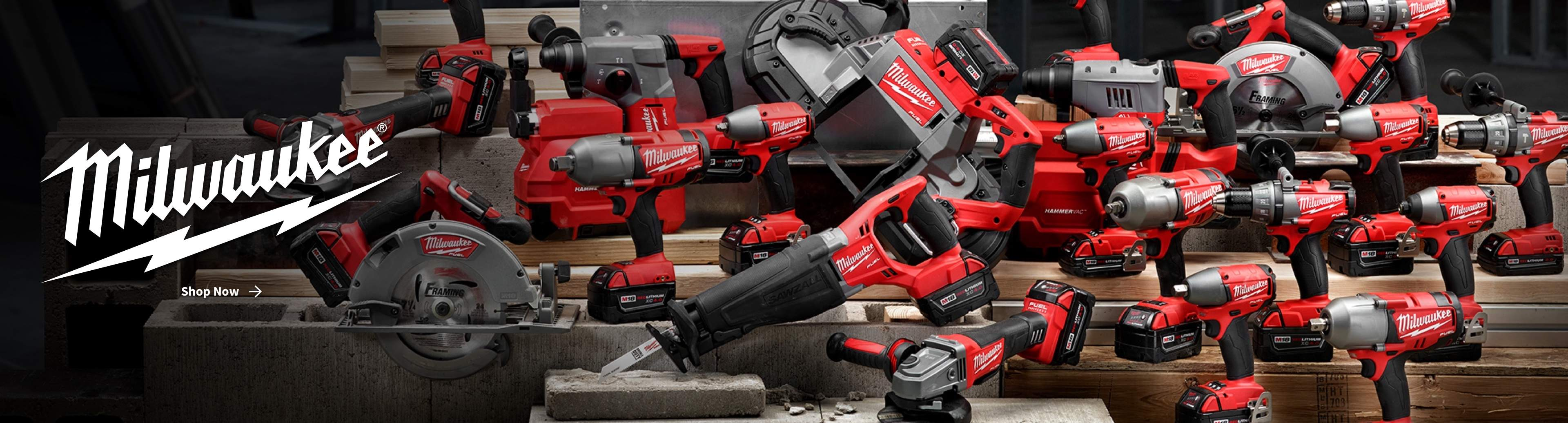 Milwaukee power tools - click to Shop Now