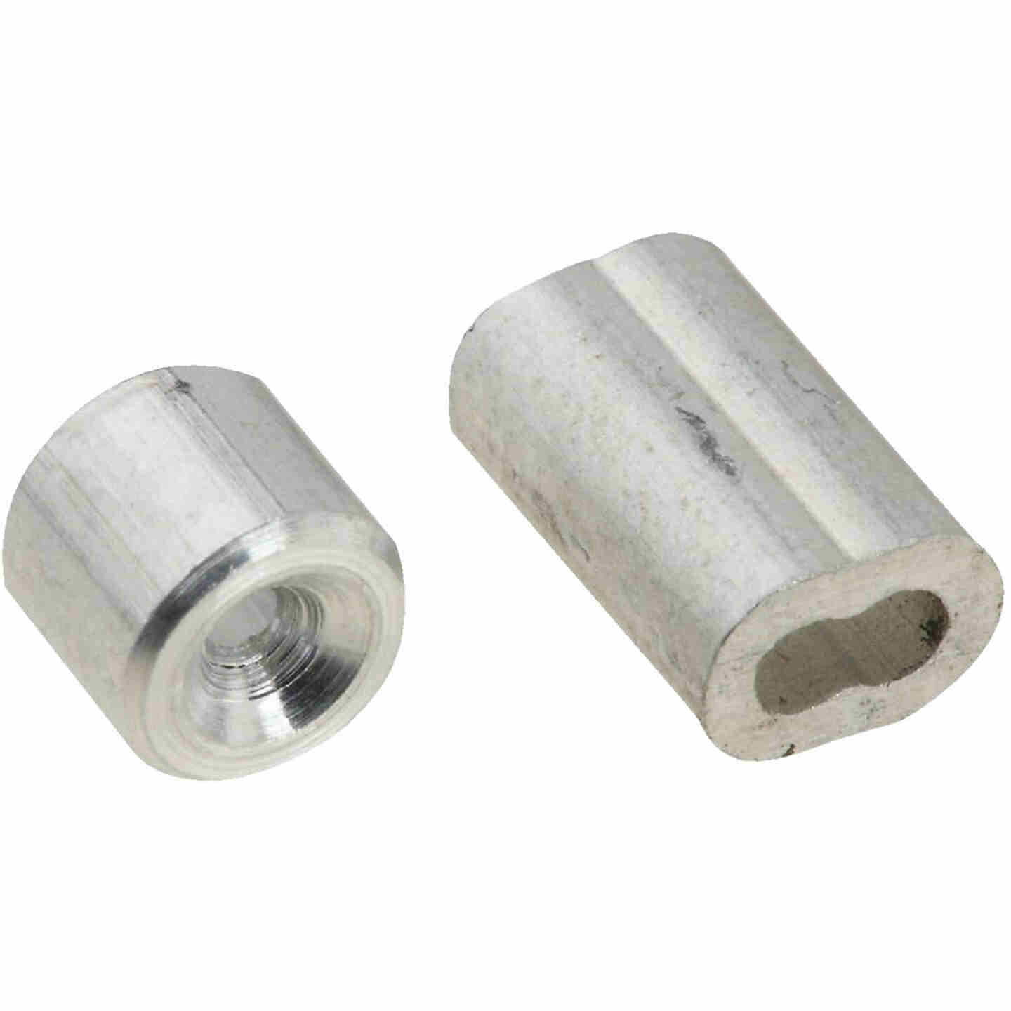 "Prime-Line Cable Ferrules And Stops, 1/16"", Aluminum Image 1"