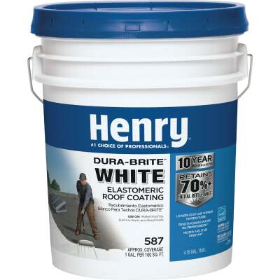 Henry Dura-Brite 5 Gal. White Acrylic Elastomeric Roof Coating