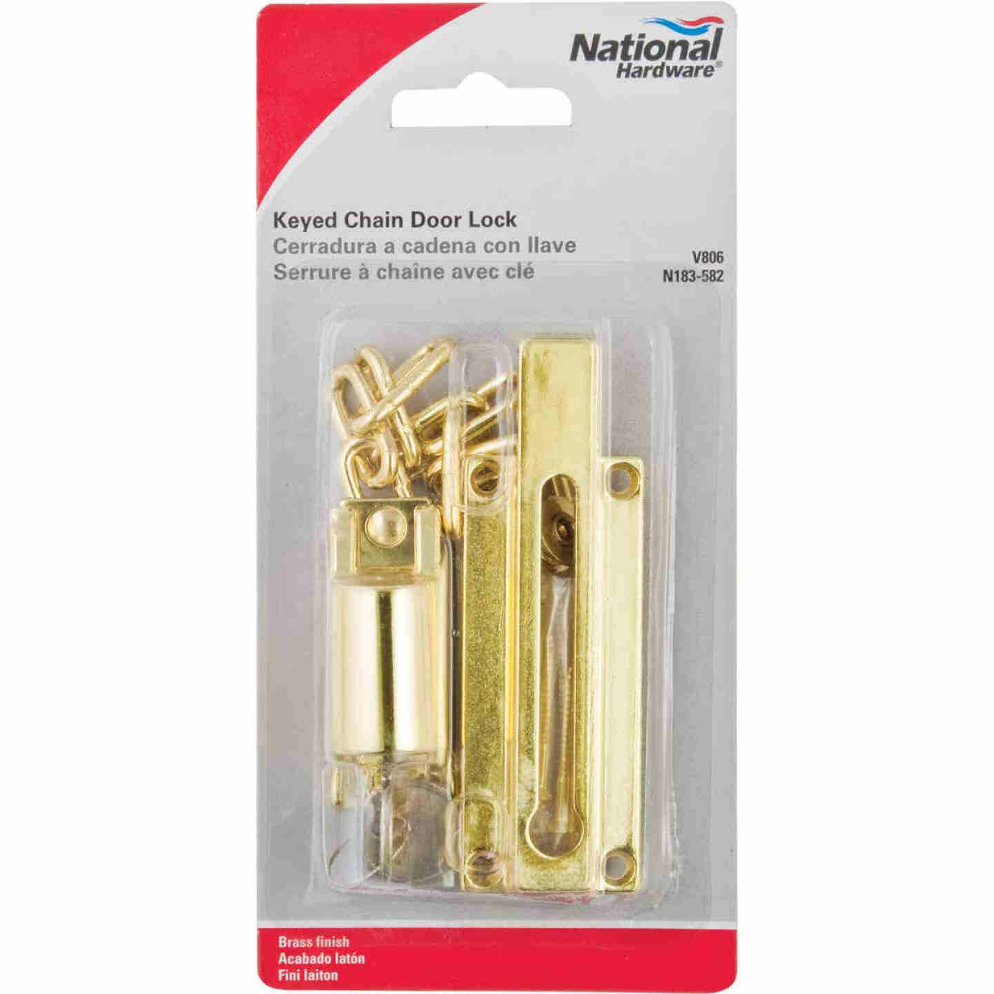 National Keyed Chain Door Lock Image 2