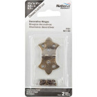 National 1-5/16 In. x 2-1/4 In. Antique Brass Hinge (2-Pack) Image 2