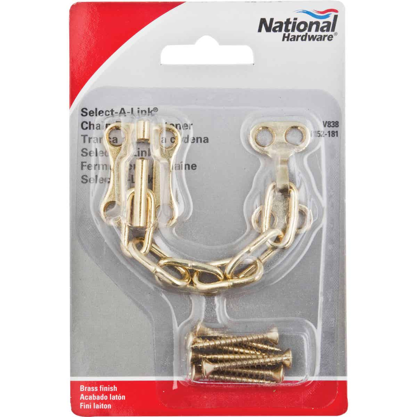 National Brass Chain Door Lock Image 2