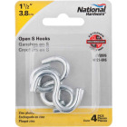 National 1-1/2 In. Zinc Heavy Open S Hook (4 Ct.) Image 2