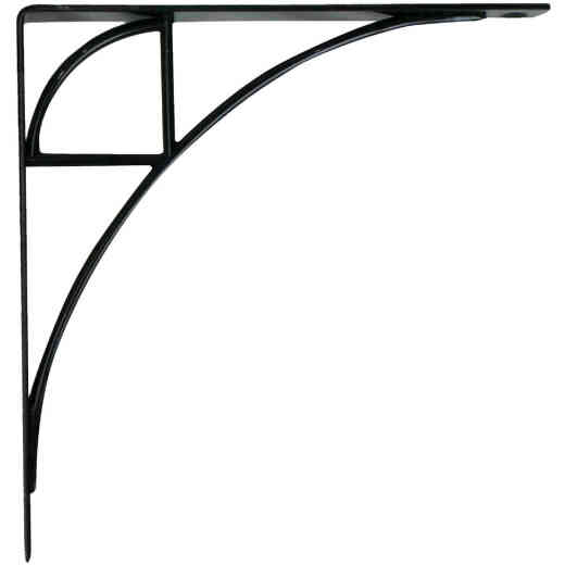 Knape & Vogt 200 Series Oak Park 8 In. Black Steel Shelf Bracket