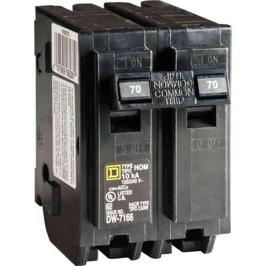 Square D Homeline 70A Double-Pole Standard Trip Circuit Breaker
