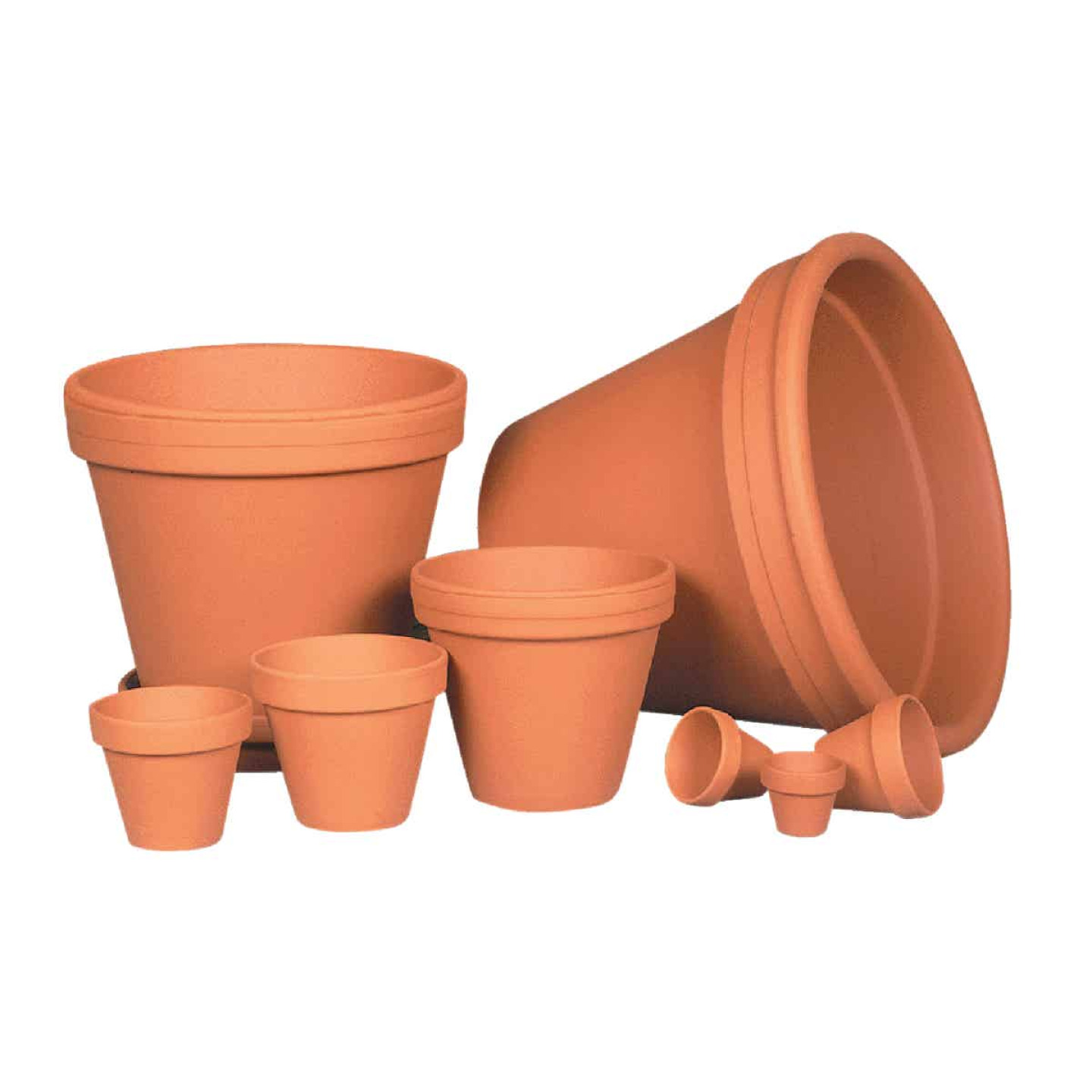 Ceramo 5-1/4 In. H. x 6 In. Dia. Terracotta Clay Standard Flower Pot Image 3